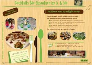 L'offre de buffet de Bio Signature