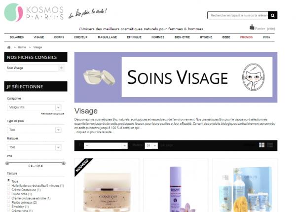 Profitez de l'offre de rentrée de Kosmos Paris, vente en ligne de cosmétiques bio