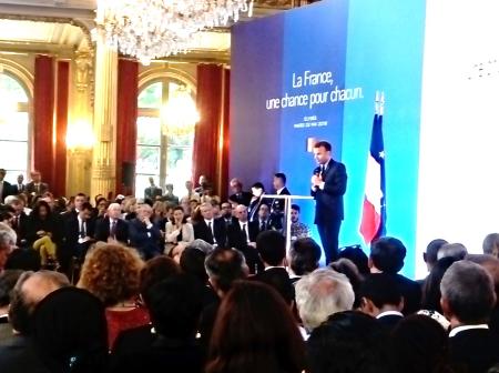 CréActives invitée par Emmanuel Macron